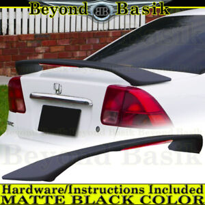 2001 2002 2003 2004 2005 Honda Civic 4dr Factory Style Trunk Spoiler Matte Black