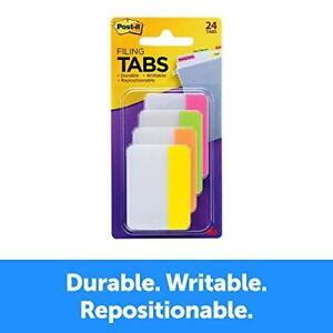 Post it Tabs 2 In Solid Assorted Bright Colors Durable Writable