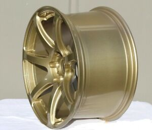 4 New 18 Rota Vector Pro Wheels 18x9 5 5x114 3 38 Gold Rims