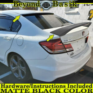 2012 2013 2014 2015 Honda Civic 4dr Si Style Trunk Roof Spoilers Matte Black