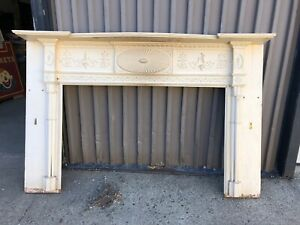 Stunning Rare C1820 Hand Carved Fancy Fireplace Mantle 85 56 60 39 Firebox