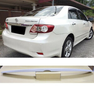 Unpainted Abs For Toyota Corolla Altis 10th 4d Rear Trunk Spoiler Wing 2009 2013