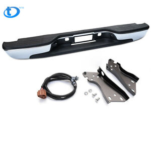 For 99 07 Silverado Sierra 1500 2500 Stainless Steel Rear Step Bumper Face Bar