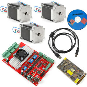 Cnc 3 axis Stepper Motor Usb Driver Board Nema23 Motor 1 8nm Controller Kit cd