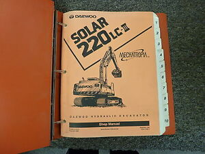 Daewoo Solar 220lc iii Hydraulic Crawler Excavator Shop Service Repair Manual