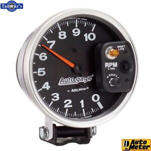 5 Pedestal Tachometer 10 000 Rpm Int Shift Light Auto Gage Black