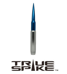 True Spike 9 Fat Bullet Spiked Antenna Silver Blue For Dodge Pickup Truck Suv