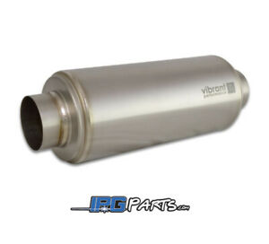 Vibrant Performance Ti Titanium Resonator 2 5 Inlet Outlet 12 Length