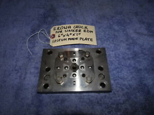 Erowa Chuck For Sinker Edm Machine 6 x4 x1 Costum Made Plate