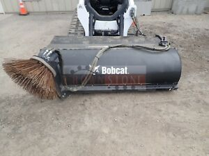 2016 Bobcat 84 Sweeper Bucket Curb Attachment Skid Steer Quick Attach