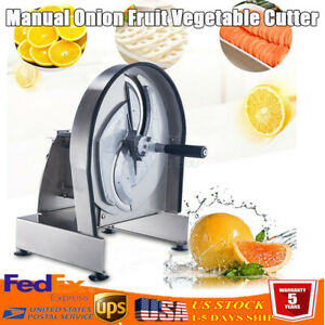 1 18mm Lemon Slicer Manual Commercial Fruit Vegetable Machine Kitchen Tool Us