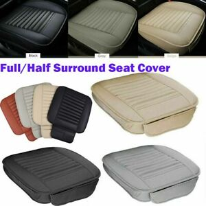 Car Breathable Front Seat Cover Pu Leather Pad Mat Cushion Full Half Surround