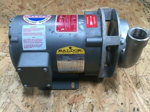 Corcoran Stainless Chemical Pump With Baldor 1 Hp Motor 3450 Rpm Lot 1