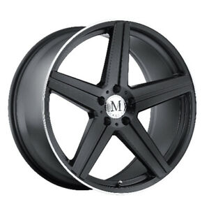 Mandrus Estrella Rimswheels For Mercedes 17x8 5x112 Matte Black Machine Lip Qty4