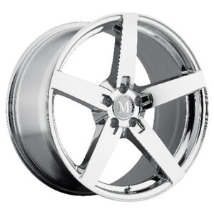 Mandrus Arrow Rims Wheels For Mercedes 17x9 5x112 Chrome Qty4