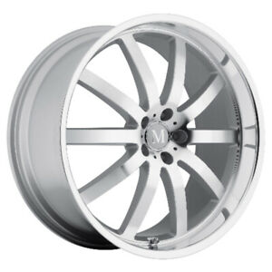 Mandrus Wilhelm Rims Wheels For Mercedes 17x8 5x112 Silver W Mirror Lip Qty4
