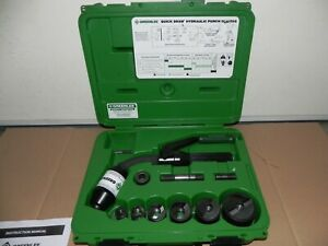 Greenlee 7706sb Quick Draw Flex Hydraulic Knockout Kit With Slugbuster 1 2 To 2
