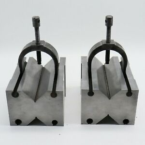 Nice Fowler Ppsc 90x70x125 No 1552 Precision Ground V block Matched Pair Set