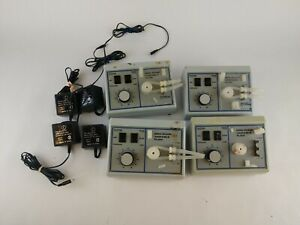 Lot Of 4 Fisher Scientific Mini pump Variable Flow Slow Peristaltic Pumps