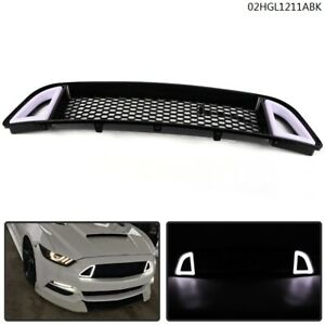 For 13 14 Ford Mustang Non shelby Front Bumper Upper Led Grille Honbeycomb
