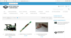 E commerce Website For Sale Laptop Parts
