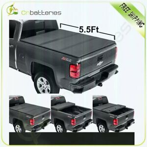 For 2015 2019 Ford F 150 5 5 Ft Bed Soft Tri Fold Tonneau Cover Folding Textured
