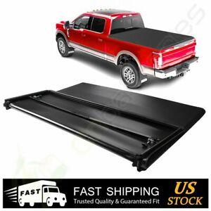 For 2005 2018 Nissan Frontier 5ft Tonneau Cover Hard Tri folding Truck Pickup