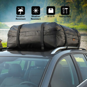 15 Cu Ft Car Roof Top Carrier Bag Waterproof 500d Tpu Storage Luggage Durable Us
