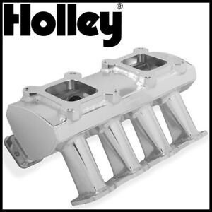 Holley Sniper Dual Quad Carbureted Fabricated Intake Manifold Gm Ls1 ls2 ls6