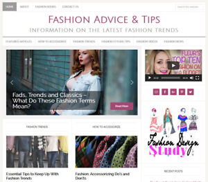 Fashion Tips Blog Niche Website Business For Sale W Auto Updating Content