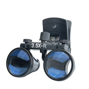 Dental Magnifying Loupes Surgical Binocular Glass Magnifier 3 5x r Clip Type