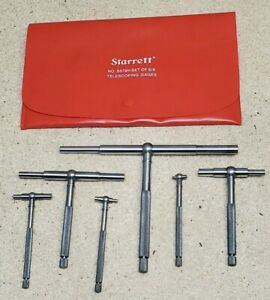 Starrett No 579 Telescoping Gages Set Of 6 5 16 To 6