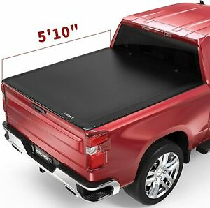Oedro 5 8ft Soft Roll Up Tonneau Cover For 2019 2020 Chevy Silverado Gmc Sierra