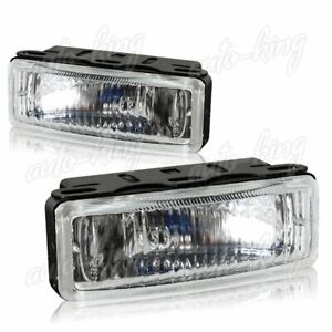 5 X 1 75 Rectangle Clear Lens Fog Driving Bumper Lights Lamp Switch Universal