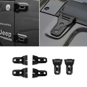 Door Hinge Hood Hinge Cover Trim For Jeep Wrangler Jl Gladiator 2 Dr 2018 Black