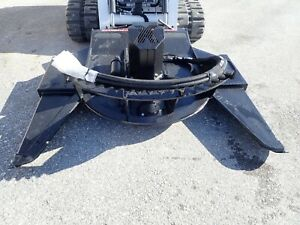Vail 77 High Flow Brush Mower Attachment For Skid Steer Loaders Quick Attach