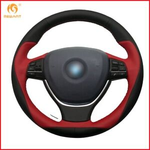 Black Red Leather Car Steering Wheel Cover For Bmw F10 2014 520i 528i 730li A79