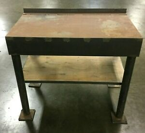 Industrial Metal Fabricated Heavy Duty Work Table 43 1 4 l X 25 1 4 D X 37 h