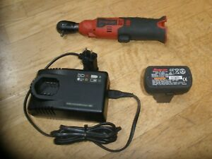 Snap On Ctr714 1 4 Drive 14 4v Cordless Ratchet W Charger Battery