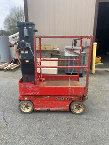 2013 Skyjack Sj12 12 Electric Runabout Scissor Vertical Mast Drivable Man Lift
