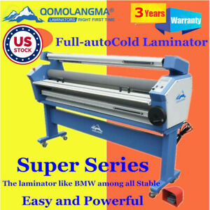 Us Stock Qomolangma 63in Full auto Wide Format Cold Laminator With Heat Assisted