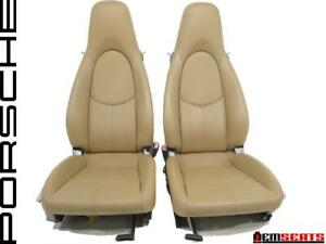 Porsche Boxster Oem Beige Leather Seats 2005 2006 2007 2008 2009 2010 2011 2012