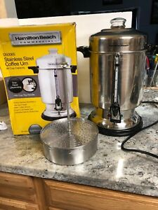 Hamilton Beach Commercial Stainless Steel Coffee Urn 60 Cup Capacity D