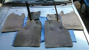 1986 Toyota 4wd Pickup Truck Front And Rear Mud Flaps Brackets Oem