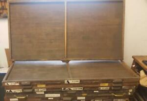 Letterpress Antique Oversize Printers Drawer Open Cases For Wood Type Ca90 12