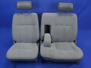 89 95 Toyota Pickup Sr5 Split Bench Front Seat Pair 97k Miles Very Nice Gray