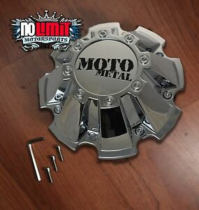 Moto Metal 962 Chrome Center Cap For Mo962 18x10 20x10 20x12 22x14 Rims