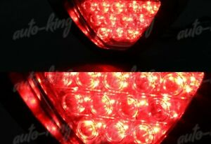 F1 Sporty Style Reverse 12 Led Red Lens Third Brake Light Stop Lamp Universal 3