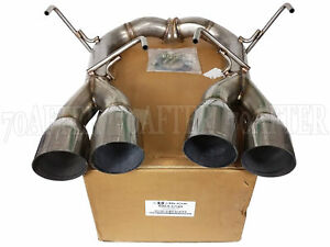 Blox Racing Axle back Muffler Delete Exhaust For 15 20 Subaru Wrx Sti