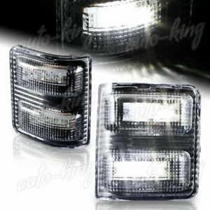 Fit Ford F250 F350 Superduty Side Mirror White Led Clear Lens Turn Signal Lights